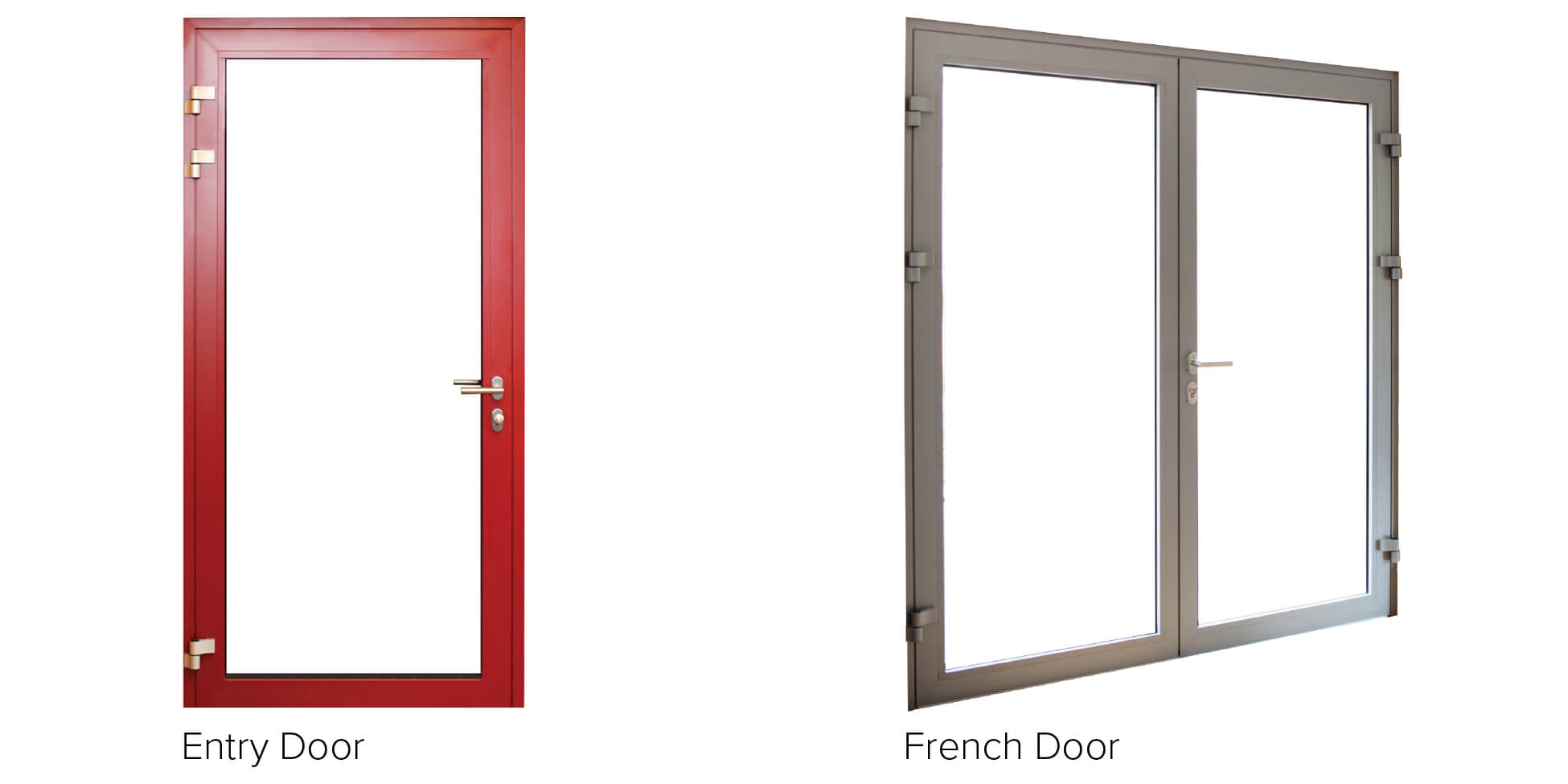 Aluminum triple pane windows for French door styles exterior
